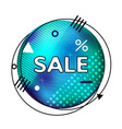 circle blue poster in memphis style black friday vector image vector image