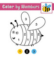 color numbers game for kids activity page vector image vector image