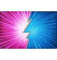 comic book action layout background with power fx vector image vector image
