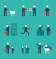 Concept people shopping with object bags basket vector image
