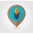 Corn flat mapping pin icon vector image vector image
