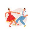 couple dancing rock and roll vector image vector image