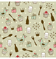 Cute holiday seamless pattern vector image vector image