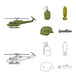 design of weapon and gun symbol set of vector image