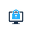 desktop security logo icon design vector image