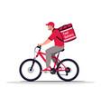 food delivery biker semi flat rgb color vector image vector image