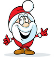 funny santa claus isolated on white background vector image vector image