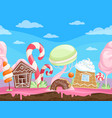 game seamless sweet landscape fantasy delicious vector image vector image