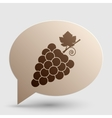 Grapes sign Brown gradient icon on vector image vector image