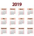 great new wall calendar 2019 vector image