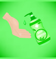 hand sanitizer sanitizer symbol alcohol vector image vector image
