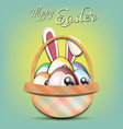 happy easter billiard balls in form eggs vector image vector image