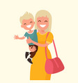 happy mother holding his son vector image vector image