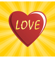 heart of love vector image vector image