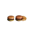 isolated two hamburger vector image