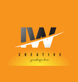 iw i w letter modern logo design with yellow vector image vector image