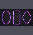 led light frames with neon glow and glitter vector image