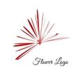 Logo flower Petals design for cover beauty vector image