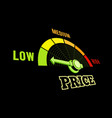 low price speedometer 3d on vector image