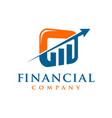 marketing and financial business logo vector image vector image