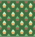 Mint cream cup cake seamless green pattern