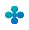 molecular cross logo atom nuclear logo design vector image vector image