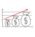 Money Growth Graph vector image