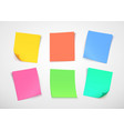 multicolor paper notes post it note vector image vector image