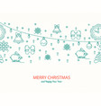 new year pattern winter background vector image vector image