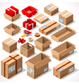 Packaging 01 Objects Isometric vector image vector image
