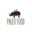 paleo food hog design template vector image