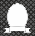 Photo frame on black and grey background vector image vector image