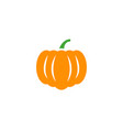 pumpkin icon design template isolated vector image vector image