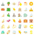 rich icons set cartoon style vector image vector image