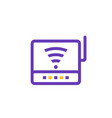 router icon modem pictogram vector image