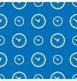 Seamless clock pattern vector image