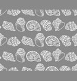 seamless pattern from white seashell vector image vector image