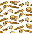 seamlessly bakery pattern vector image