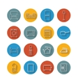 Set flat icons of house appliance vector image