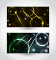 Set of abstract futuristic cards vector image vector image