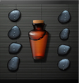 spa background with bottle