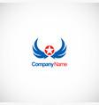 star wing emblem company logo vector image vector image