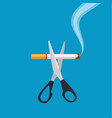 tobacco abuse concept vector image vector image