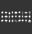 tree icon set grey vector image