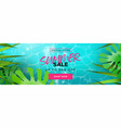 tropical summer season sale banner for discount vector image vector image