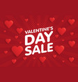 valentines day sale banner in vintage comics vector image vector image