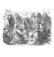 vintage drawing biblical story jesus and vector image vector image