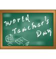 World Teachers Day vector image vector image