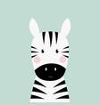 zebra head card vector image vector image