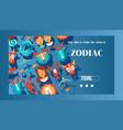 zodiac signs banner web design vector image vector image